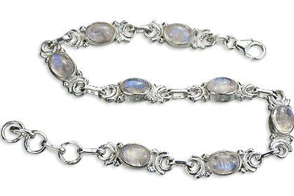 Design 14510: blue,white moonstone bracelets