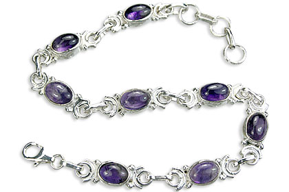 Design 14511: purple amethyst bracelets