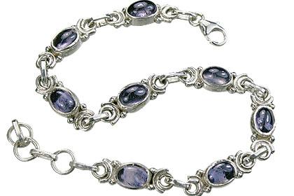 Design 14514: blue iolite contemporary bracelets