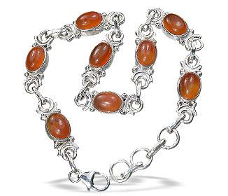 Design 14515: orange carnelian bracelets