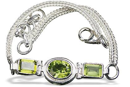 Design 15420: green peridot bracelets