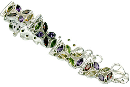 Design 15437: multi-color multi-stone bracelets