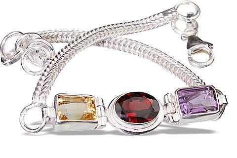 Design 1545: red,multi-color multi-stone contemporary bracelets