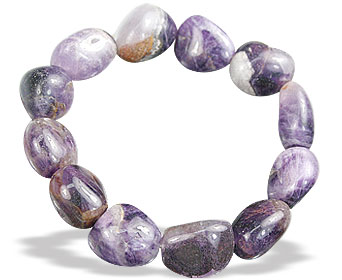 Design 15661: purple amethyst stretch bracelets