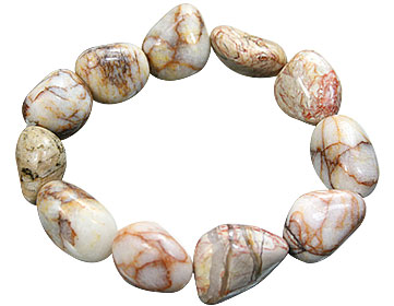 Design 15666: multi-color jasper stretch bracelets