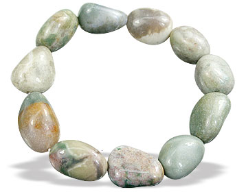 Design 15686: multi-color jasper stretch bracelets