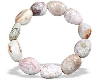 Design 15688: multi-color jasper stretch bracelets