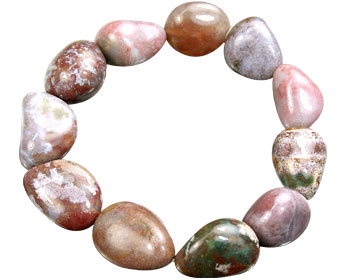 Design 15689: multi-color jasper stretch bracelets