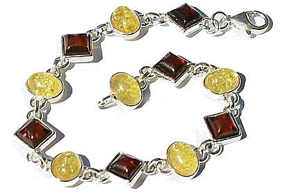 Design 15791: orange,yellow amber bracelets
