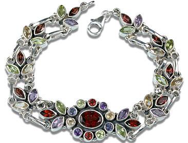 Design 1586: multi-color multi-stone gothic-medieval bracelets