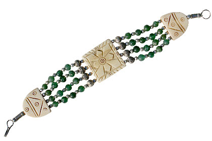 Design 16042: multi-color multi-stone bracelets