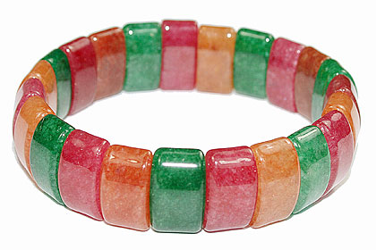 Design 16052: multi-color multi-stone chunky bracelets
