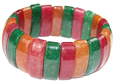 Design 16054: multi-color multi-stone chunky bracelets