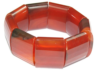 Design 16060: orange jasper chunky bracelets