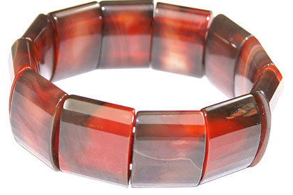 Design 16061: orange jasper chunky bracelets