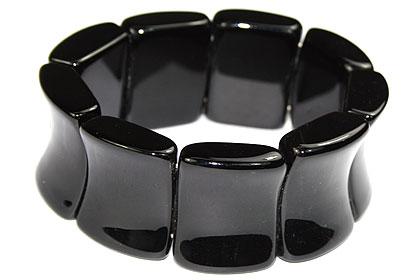 Design 16062: black onyx chunky bracelets