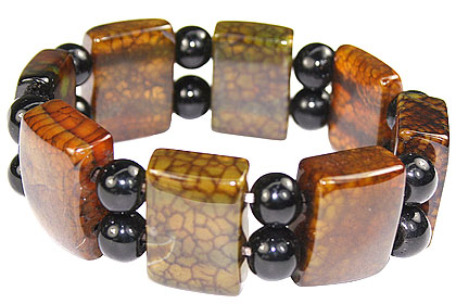 Design 16068: multi-color multi-stone chunky bracelets