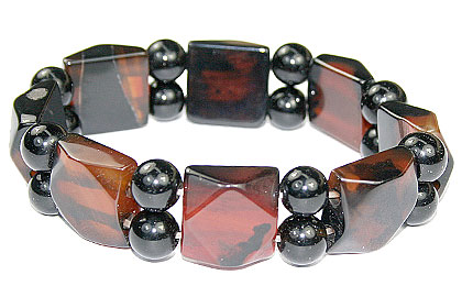 Design 16072: black,brown,multi-color multi-stone chunky bracelets