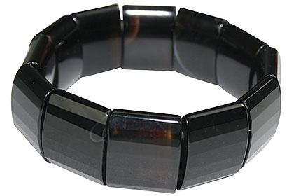Design 16073: black,multi-color multi-stone chunky bracelets