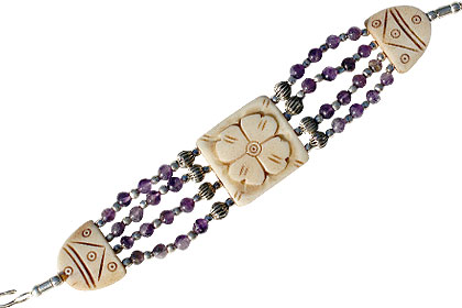 Design 16074: multi-color multi-stone bracelets