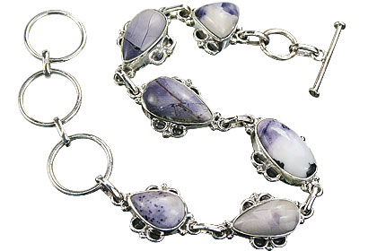 Design 16139: multi-color tiffany stone art-deco bracelets