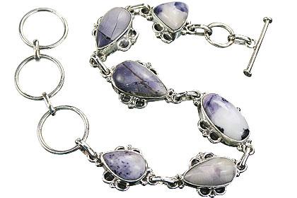 Design 16139: multi-color tiffany stone art-deco bracelets