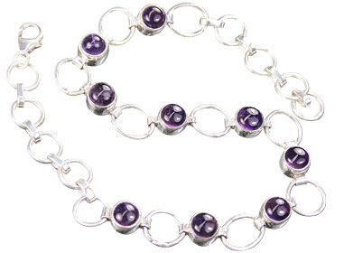 Design 16146: purple amethyst bracelets