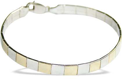 Design 16201: white,yellow silver contemporary bracelets