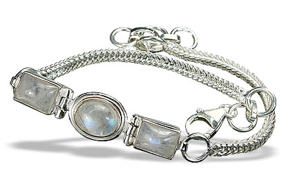 Design 16610: white moonstone bracelets