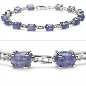 Design 16848: purple tanzanite bracelets