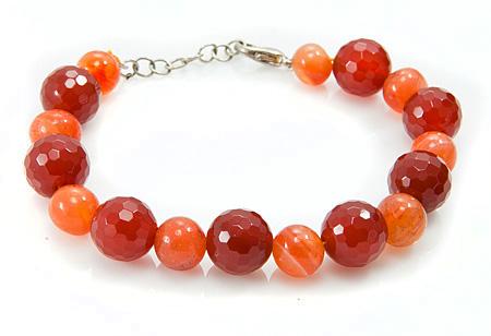 Design 17371: orange carnelian bracelets