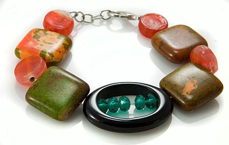 Design 17374: multi-color multi-stone bracelets