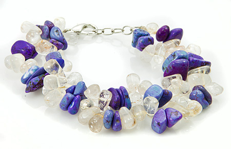 Design 17375: clear quartz bracelets