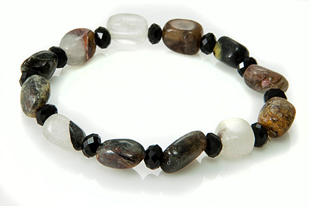 Design 17385: black black spinel bracelets