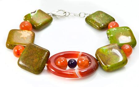 Design 17388: multi-color multi-stone bracelets