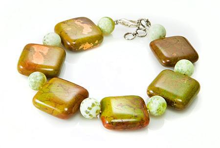 Design 17397: multi-color multi-stone bracelets