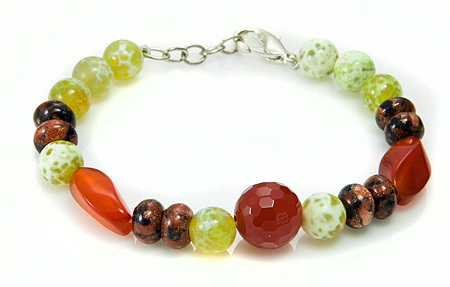 Design 17398: multi-color multi-stone bracelets