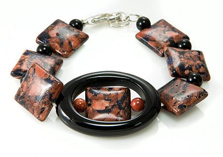 Design 17401: black onyx bracelets