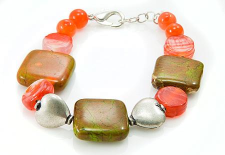 Design 17404: multi-color multi-stone bracelets
