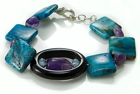 Design 17505: multi-color multi-stone bracelets