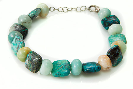 Design 17508: blue chrysocolla bracelets