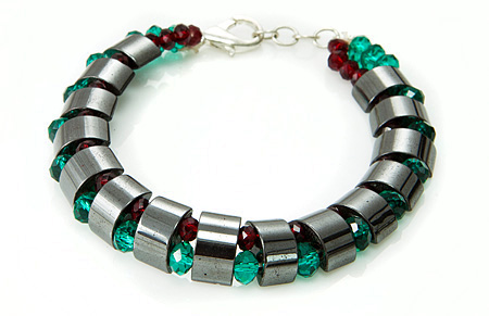 Design 17510: black hematite bracelets