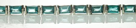 Design 17972: blue topaz bracelets
