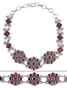Design 18011: red garnet bracelets