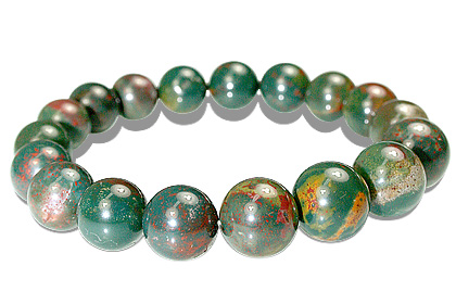 Design 18201: green bloodstone bracelets