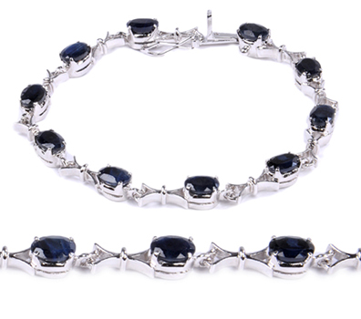 Design 18277: blue sapphire bracelets