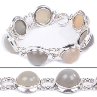 Design 18332: white moonstone bracelets
