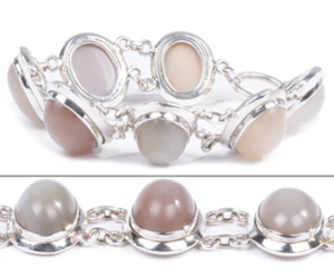 Design 18333: white moonstone bracelets