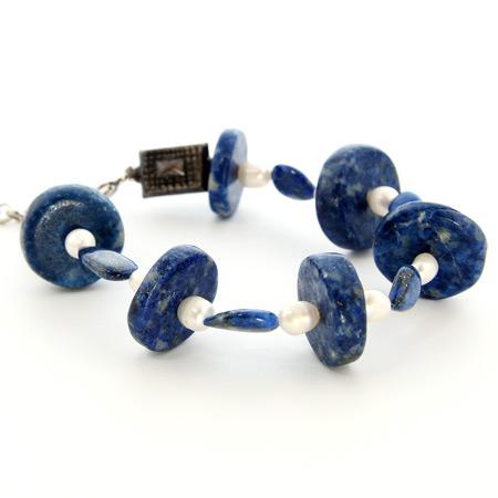 Design 18705: blue lapis lazuli bracelets