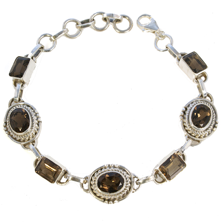 Design 18764: black smoky quartz bracelets